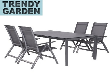 tuinset aluminium 4 stoelen