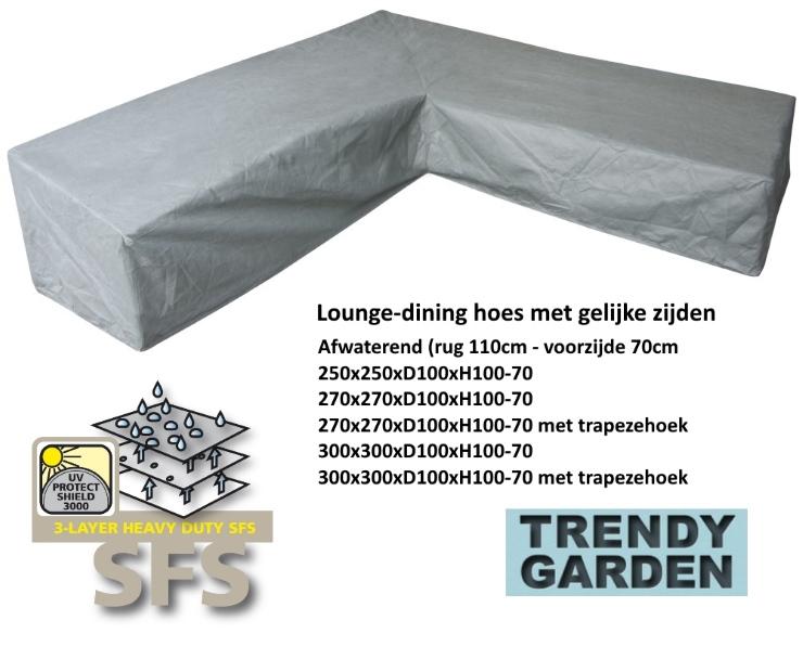 lounge-dininghoezen met gelijke zijden