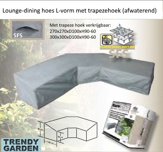 lounge-dininghoes met trapeze hoek
