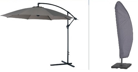 hoes voor parasol met gebogen mast(deel)