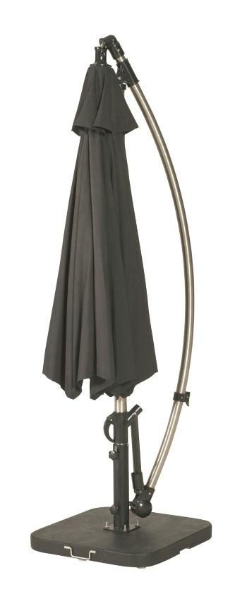 zweefparasol met gebogen mast