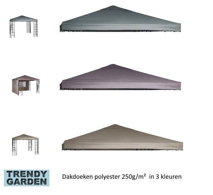 dakdoeken 3x3 voor paviljoen