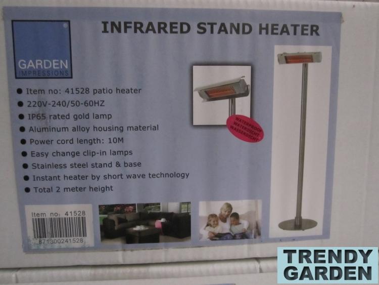 RVS elektrische terrasheater