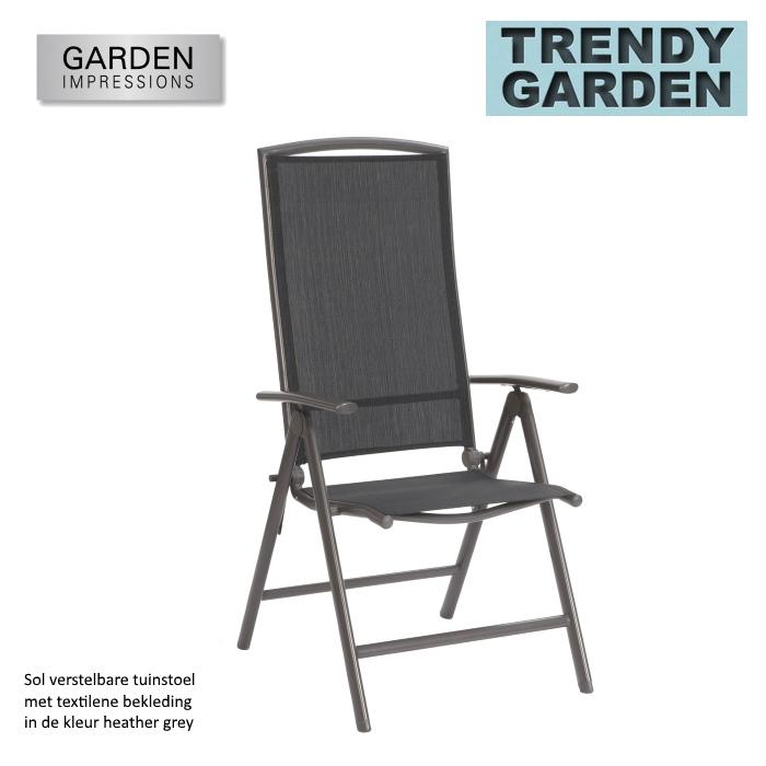 Aluminium verstelbare stoel