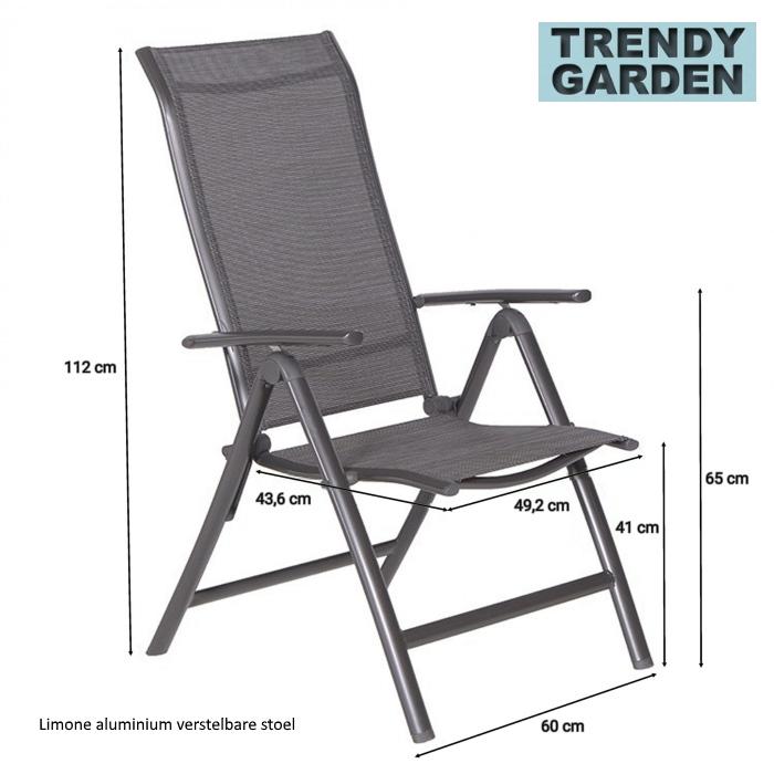 aluminium stoel, verstelbaar
