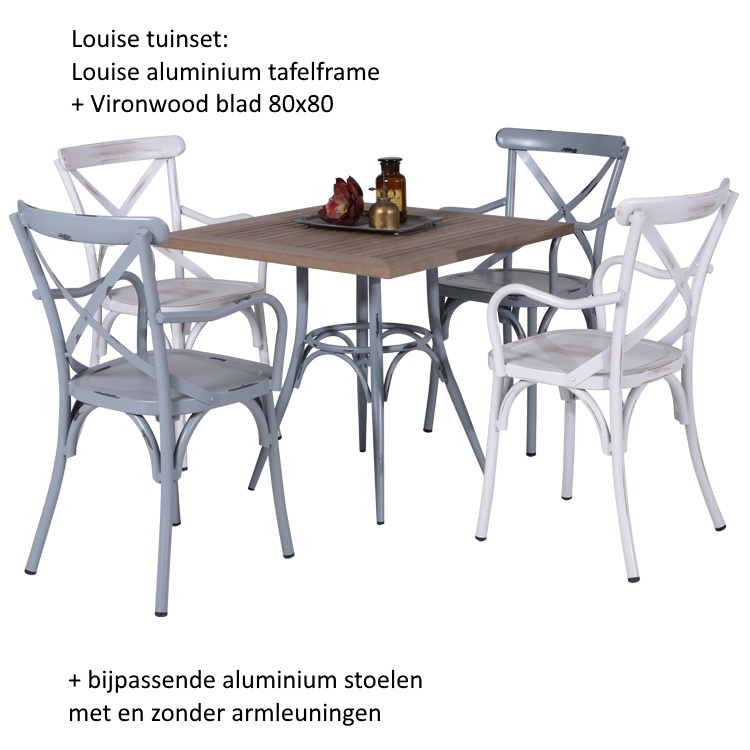 tuintafel met stoelen