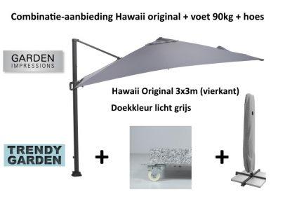 combinatie parasol+voet+hoes