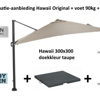 combinatie Hawaii parasol +voet +hoes